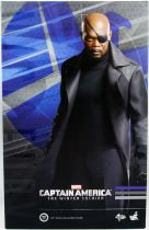 "Captain America The Winter Soldier - Nick Fury (Samuel Jackson) 12"" figure - Hot Toys Sideshow MMS 315"