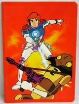 Captain Future - School Notebook - Curtis shooting Jovian Soldier