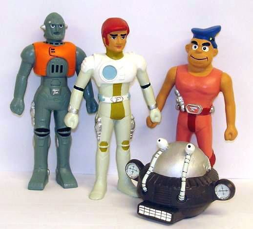 Captain Future - Set of 4 resin mini-statues : Captain Future, Grag, Otto and Simon Light