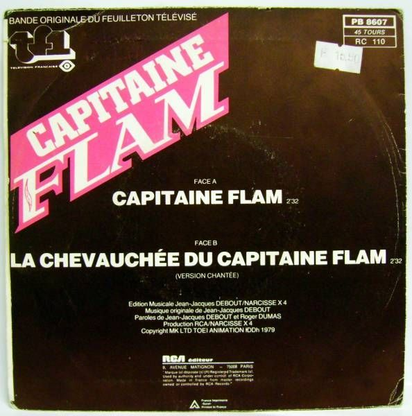 Captain Future Original French TV series Soundtrack - Mini-LP Record - RCA Records 1980