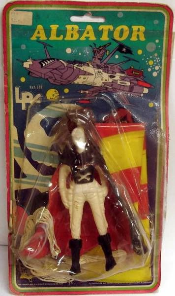 Captain Harlock - Flying Harlock figure - LPF 1978 (mint on card)