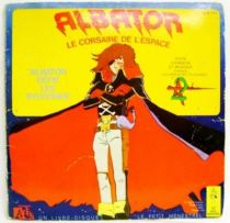 Captain Harlock - Mini-LP Book-Record - Albator defies Sylvidres - Ades / Le Petit Menestrel Records 1979