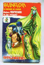Captain Harlock - Queen Silvydra and the enemies -  set of plastic figures - Atlantic (mint in box)