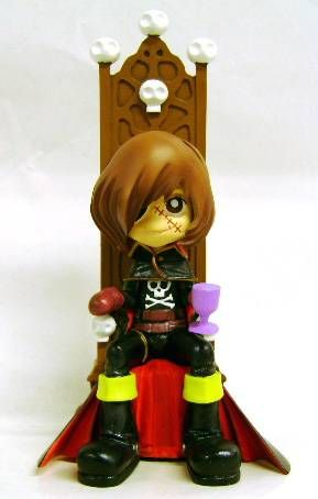 Captain Harlock - SD figure Garage Kit - Captain Harlock on his throne