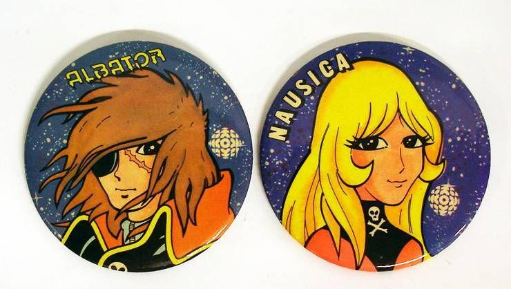 Captain Harlock - Vintage Buttons - Albator & Nausica