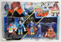 Captain Harlock - Vinyl figures 4 pack - Takatoku (mint on card)