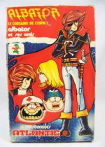 Captain Harlock and friends - set of plastic figures - Atlantic (mint in box)