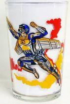 Captain Power - Amora mustard glass - Hawk Masterson & Lord Dread