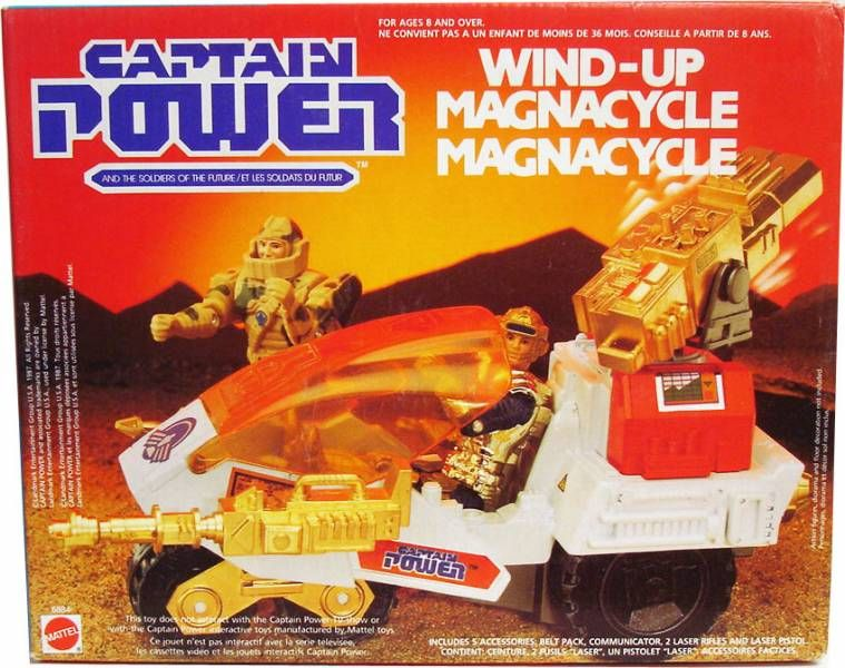 Captain Power - Wind-Up Magnacycle
