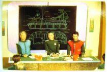 Captain Scarlet - Bloomsberry Books Postal Card - Captain Scarlet & Captain Blue attend a briefing