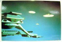 Captain Scarlet - Bloomsberry Books Postal Card - Cloudbase & Mysterons