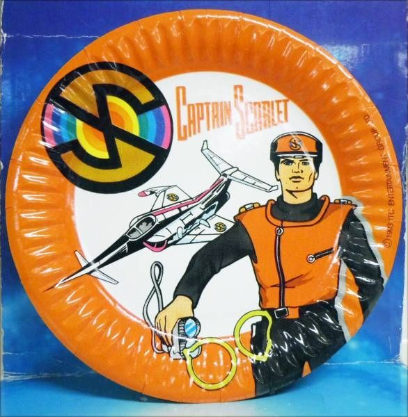 Captain Scarlet - Party Magic - Set of 10 Party Plates