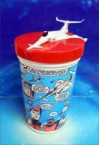 Captain Scarlet - Pizza Hut Collectible Plastic Cups - Angel Interceptor Jet Fighter