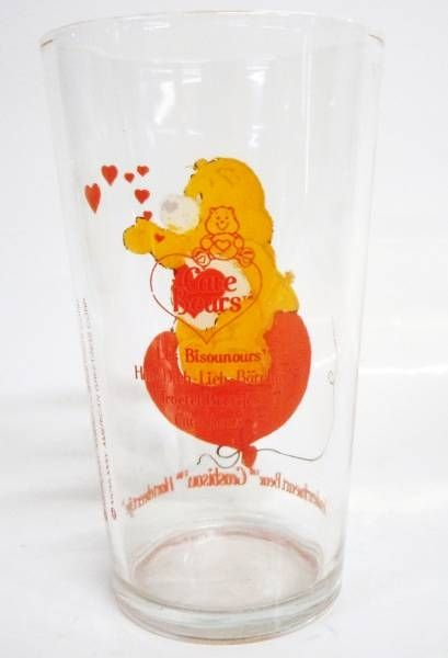 Care Bears - Amora mustard glass - Tenderheart Bear