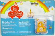 Care Bears - Kenner - Miniature - Birthday Bear sitting with a present (large card)