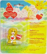 Care Bears - Kenner - Miniature - Brave Heart Lion protecting his friends (square card)