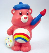Care Bears - Kenner - Miniature - Cheer Bear creating a cheerful picture (loose)