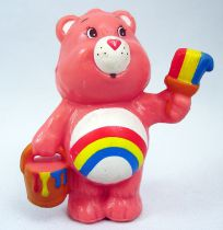Care Bears - Kenner - Miniature - Cheer Bear painting a rainbow (loose)