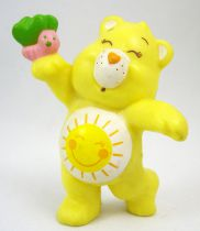 Care Bears - Kenner - Miniature - Funshine Bear dancing with a colorful butterfly (loose)
