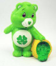 Care Bears - Kenner - Miniature - Good Luck Bear pouring 4-leaf clovers (loose)