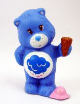 Care Bears - Kenner - Miniature - Grumpy Bear dropping ice cream on his foot (loose)