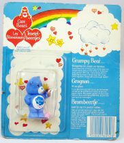 Care Bears - Kenner - Miniature - Grumpy Bear dropping ice cream on his foot (square card)