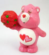 Care Bears - Kenner - Miniature - Love-a-lot Bear offering a bunch of roses (loose)