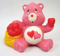 Care Bears - Kenner - Miniature - Love-a-lot Bear sharing his heart (loose)