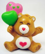 Care Bears - Kenner - Miniature - Tenderheart holding heart-shaped balloons (loose)