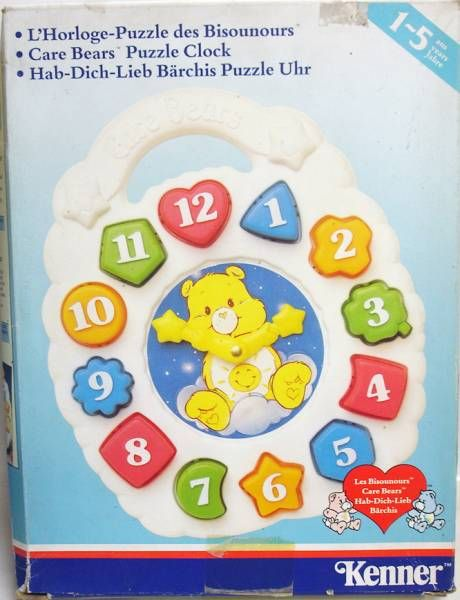 Care Bears - Puzzle Clock - Funshine Bear