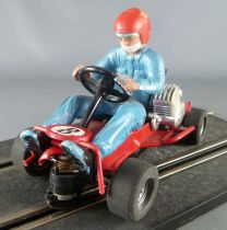 Carrera Universal 40485 - Go-Kart N° 8 Pilote Bleu Ciel