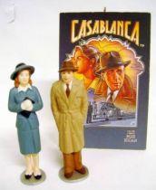 Casablanca - Rick Blaine (Humphrey Bogard) & Ilsa Lund Laszlo (Ingrid Bergman) + Movie Poster - Ornament Figures - Hallmark 1997