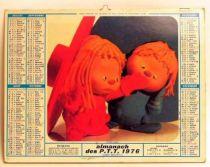 Chapi Chapo  1976 Post office calendar