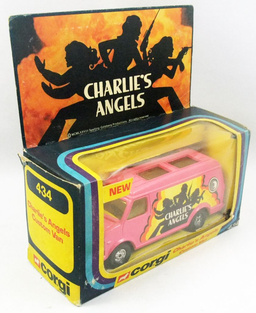 Charlie\'s Angels - Corgi ref.434 1978 - Custom Van (Mint in box)