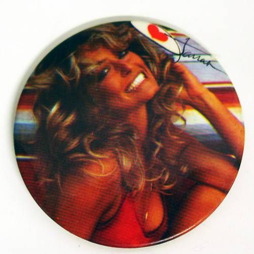 Charlie\'s Angels - Vintage Button - Farrah Fawcett