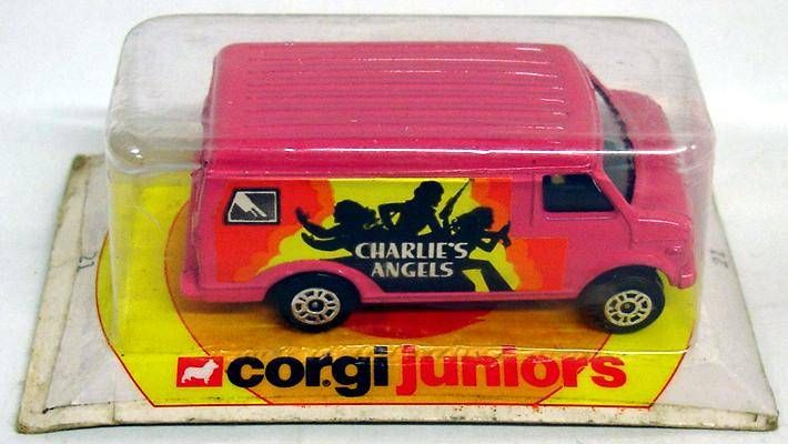 Charlie\\\'s Angels Custom Van  - Corgi Junior 1977