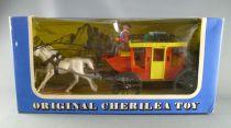 Cherilea - Figurine Plastique 75mm démontable - Western - Cow-boys Diligence neuve boite (réf 1903)