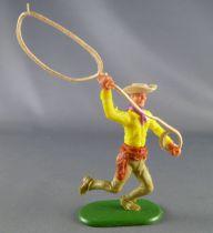 Cherilea - Plastic Figure 70mm Swoppet  - Wild-West - Cow-boys lasso