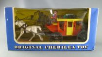 Cherilea - Plastic Figure 75mm Swoppet  - Wild-West - Cow-boys Stage Coach (Mint in box) (réf 1903)