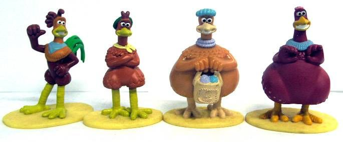 Chicken Run - Set of 4 PVC figures