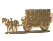 Chocolat L. Moreuil The locomotion thrue the ages Dutch Wagon XVI° century (gold)