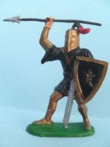 Clairet - Middle-Age - Footed knight with spear & shield