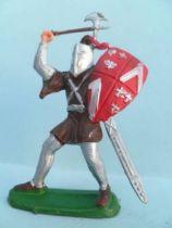 Clairet - Moyen- Age - Piéton chevalier avec hache & bouclier