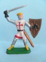 Clairet - Moyen- Age - Piéton Croisé épée & bouclier