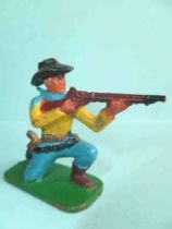 Clairet - Nestle -  Cow-boys - Footed Firing rifle kneeling