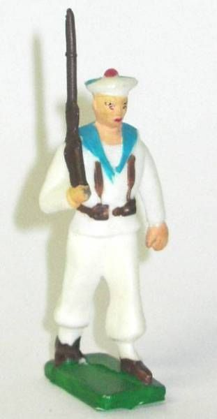 Clairet - sailors - trooper marching rifle on shoulder