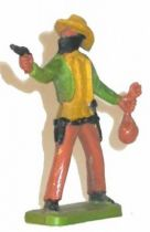 Clairet - wild west - cow boy 2sd series - footed masked bankrobber (green & tan)
