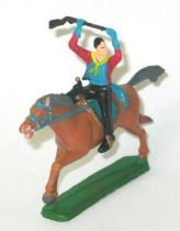 Clairet - wild west - cow boy 2sd series - mounted rifle above the head