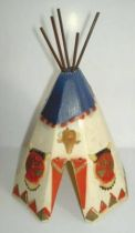 Clairet - wild west - indian - accessories - tent (white & blue & red)