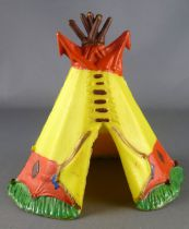Clairet - wild west - indian - accessories - tent 2nd Mold (lemon yellow & red)
